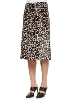Theory Midi L. Sahara Printed Skirt