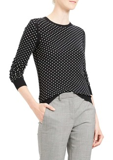 Theory Mini Polka Dot Wool Blend Sweater