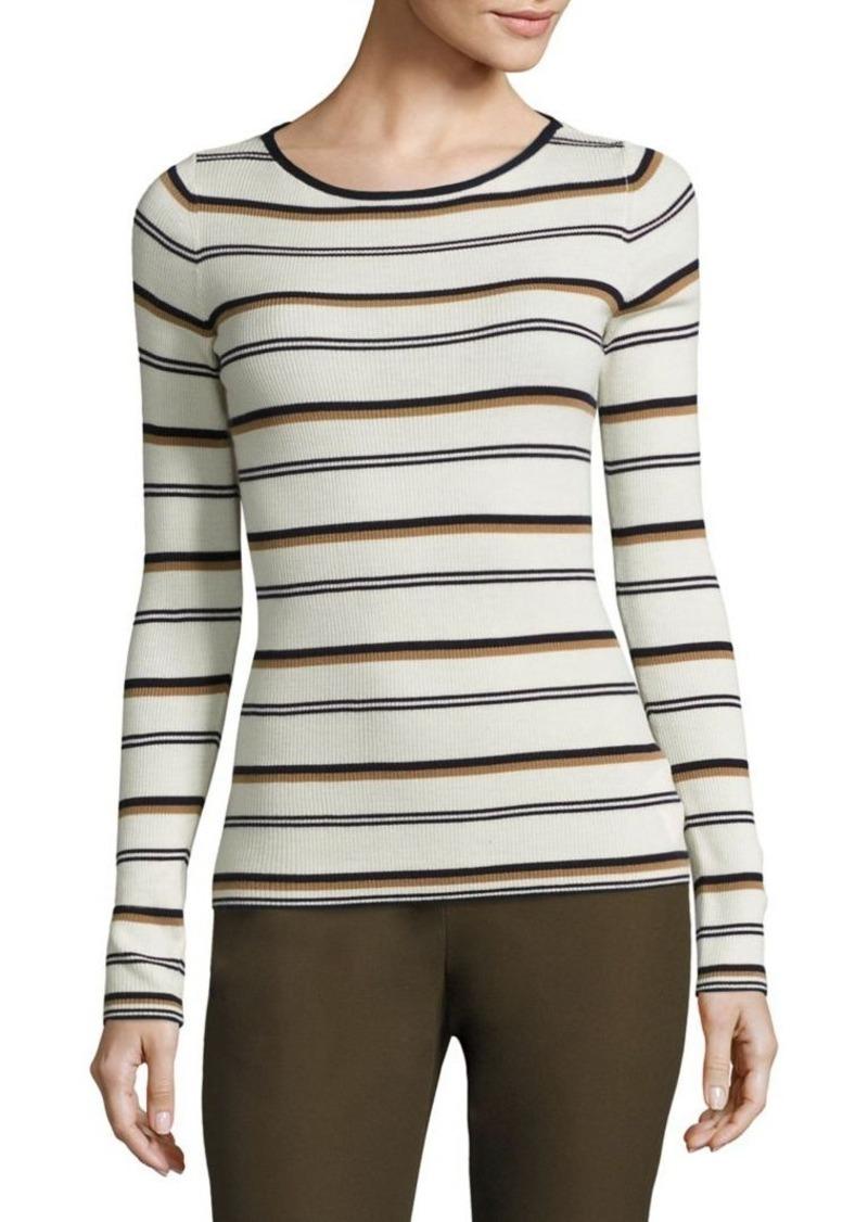 Theory Mirzi Striped Merino Wool Sweater