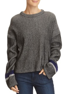 Theory Mix Stripe Cashmere Sweater