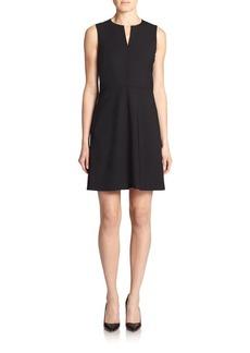 Theory Miyani Edition Wool-Blend Flare Dress