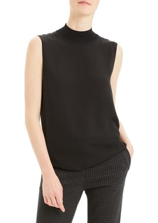 Theory Mock Neck Silk Tank