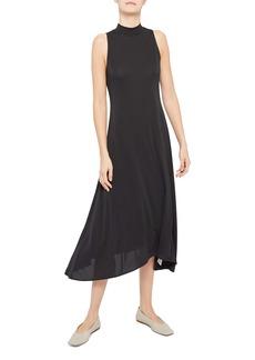 Theory Mock Neck Sleeveless Fluid Knit Dress