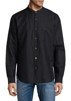 Theory Mockneck Casual Button-Down Shirt