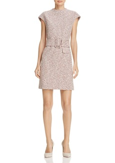 Theory Mod Belted Tweed Dress