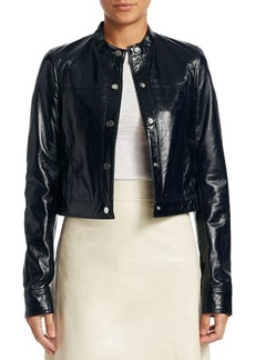 Mod Crinkle Patent Bomber