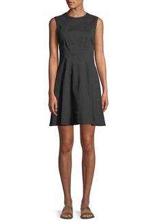 Theory Modern Linen Sleeveless Shift Dress