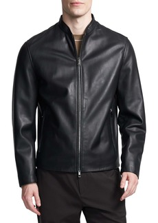 Theory Moore Leather Bomber Jacket