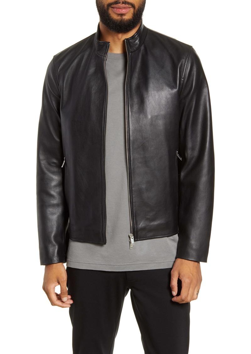 Theory Morvek L Rhodes Regular Fit Leather Jacket