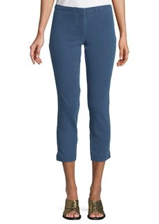 Theory Movement Denim Classic Cropped Skinny Pants