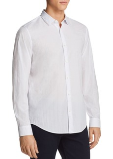 Theory Murrary Arrow Print Long Sleeve Button-Down Shirt