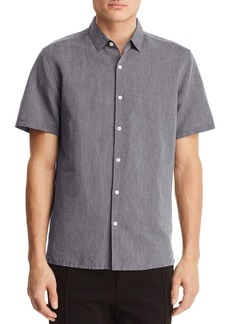 Theory Murrary Essential Short Sleeve Button-Down Shirt