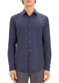 Theory Murrary Gingham-Print Regular Fit Flannel Shirt