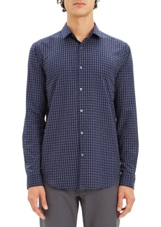 Theory Murrary Regular Fit Gingham Flannel Sport Shirt