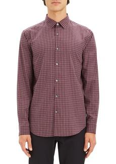 Theory Murrary Regular Fit Gingham Flannel Sport Shirt