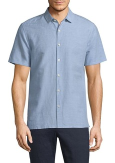 Theory Murray Essential Linen Blend Shirt