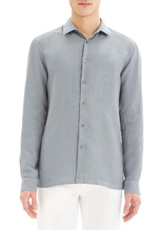 Theory Murray Regular Fit Linen Button-Up Sport Shirt