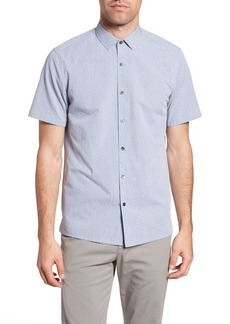 Theory Murray Trim Fit Check Short Sleeve Sport Shirt