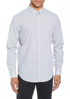 Theory Murray Trim Fit Pixel Print Sport Shirt