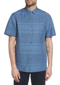 Theory Murray Trim Fit Print Woven Shirt