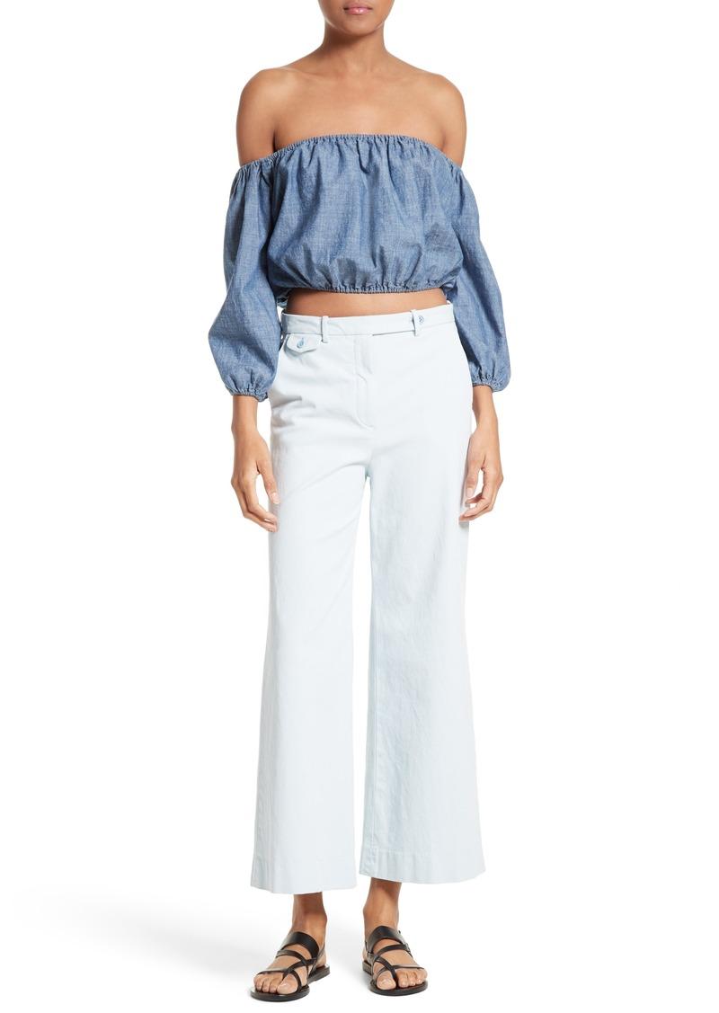 Theory Theory Nadeema Crop Flare Leg Chinos | Casual Pants - Shop ...