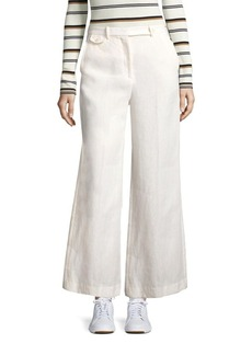 Theory Nadeema Flared Linen Pants