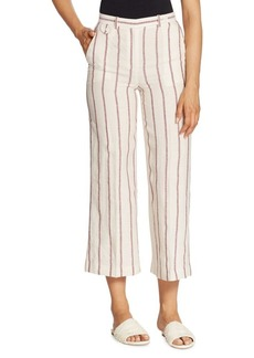 Theory Nadeema Striped Wide-Leg Pants