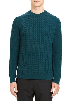 Theory Nardo Slim Fit Cable Wool & Cashmere Sweater