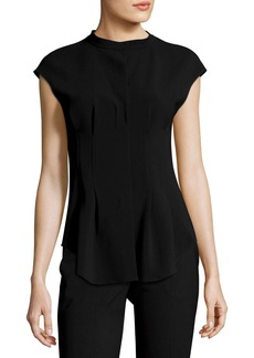 Theory Narthus Pleated Admiral Crepe Top