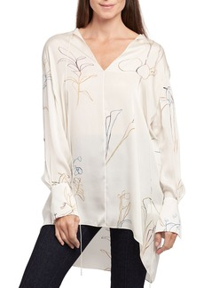 Theory Nature Long-Sleeve Fluid Charmeuse Tunic