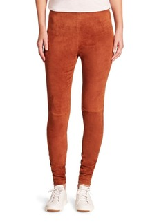 Theory Navalane Lamb Suede Pants