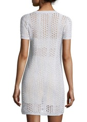 Theory Nenalo Iras Crocheted-Knit Dress