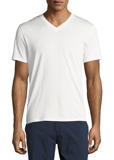 Theory New Clay V Plaito Silk-Cotton Short-Sleeve T-Shirt