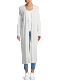 Theory New Harbor Long-Sleeve One-Button Duster Cardigan