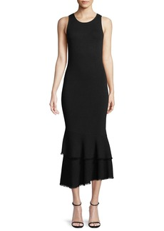 Theory Nilimary Prosecco Knit Midi Dress
