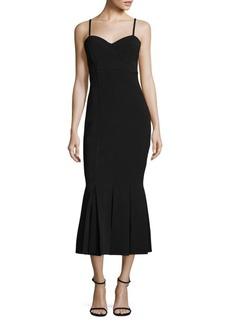 Theory Nixie Bustier Midi Dress