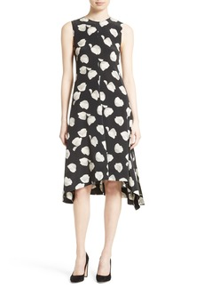 Theory Nophella B Harper Print Silk Dress