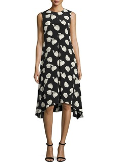 Theory Nophella B Harper-Print Silk Dress