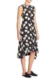 Theory Nophella B Printed Silk Midi Dress