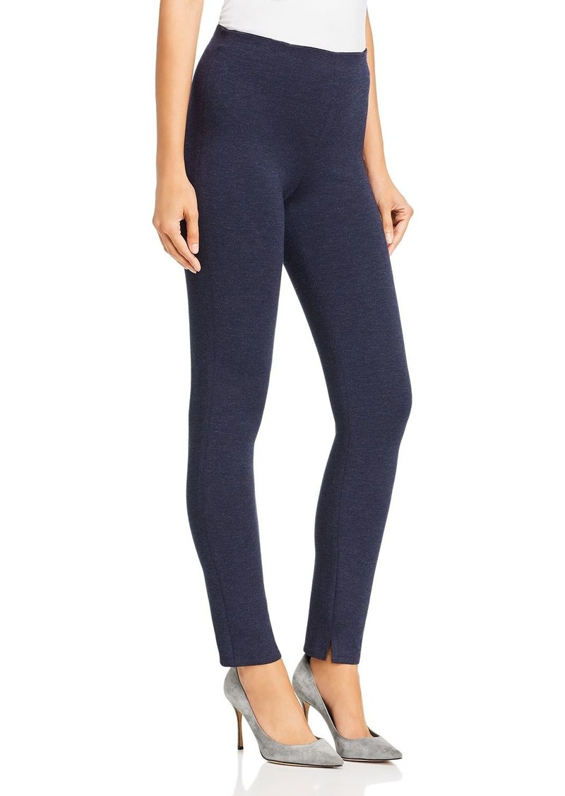 Theory Notched-Hem Skinny Leggings
