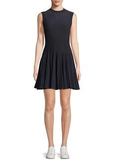 Theory Novelty Checker Knit Sleeveless Short Dress