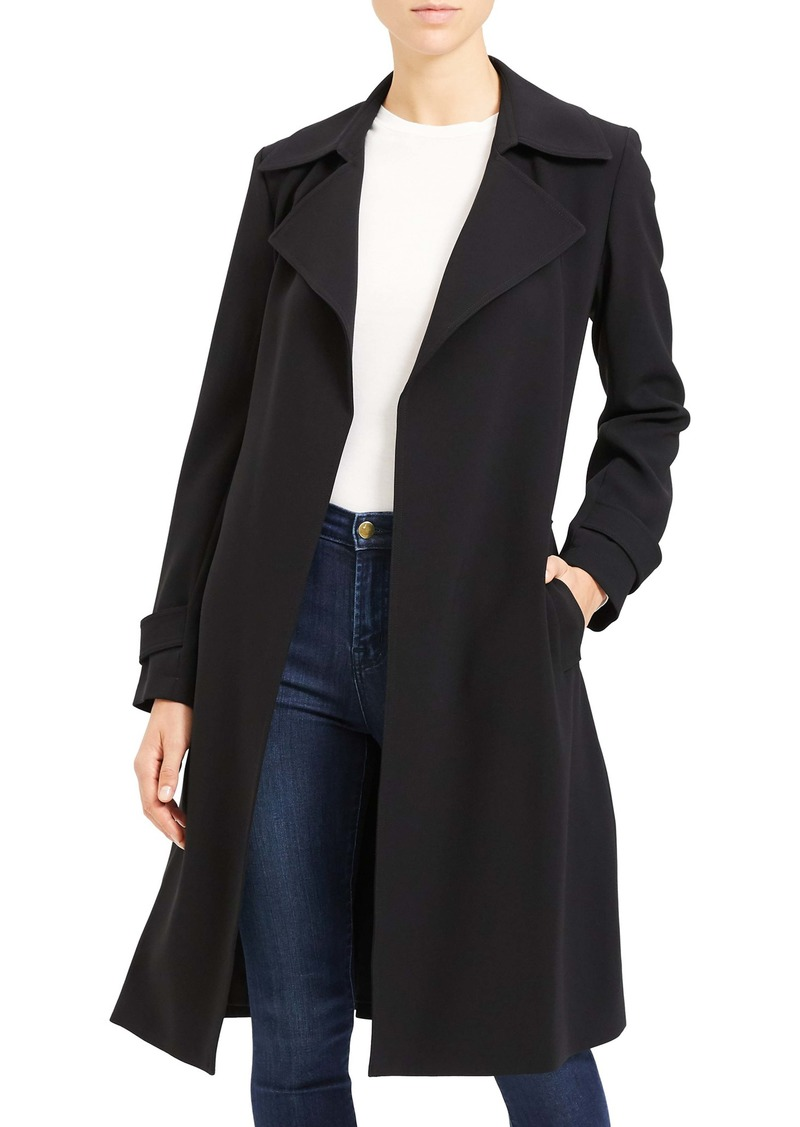 Theory Oaklane Admiral Crepe Trench Coat