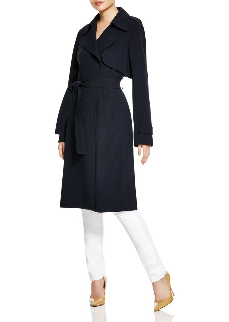 d4c1ddb42f Lyst Theory Soft Crepe Trench Coat In Black