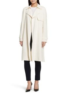 Theory Oaklane Rosina Crepe Trench Coat
