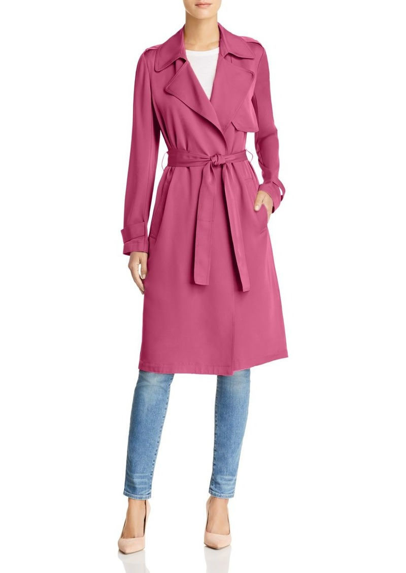 9356626019 Theory Theory Oaklane Silk Trench Coat | Outerwear