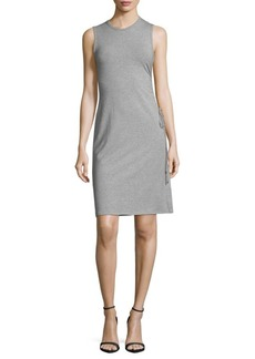 Theory Sleeveless Roundneck Ruched Sheath Dress