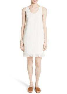 Theory Oekel Fringe Hem Linen Shift Dress