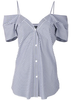 Theory off-shoulder buttoned top - Blue