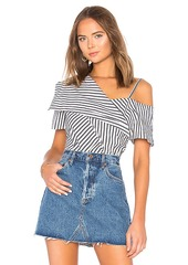 Theory Off Shoulder Foldover Top