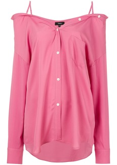 Theory off shoulder shirt - Pink & Purple